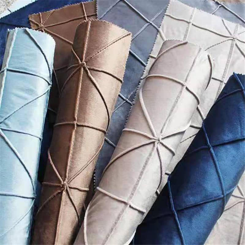 Modern upholstery polyester design textile custom hand plaid pillow cover fabric
