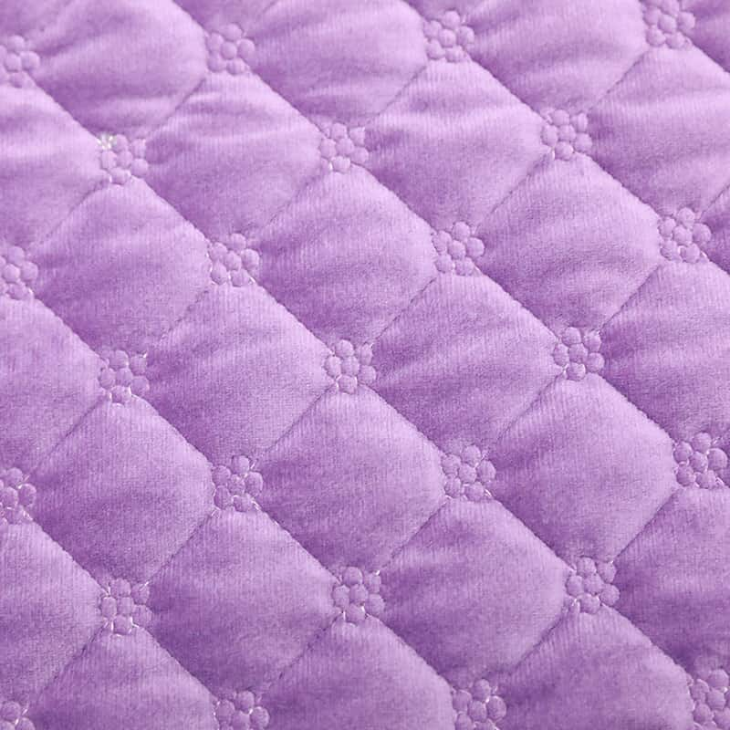 Latest design 100% polyester knit home textile quilted velvet fabric for sofa