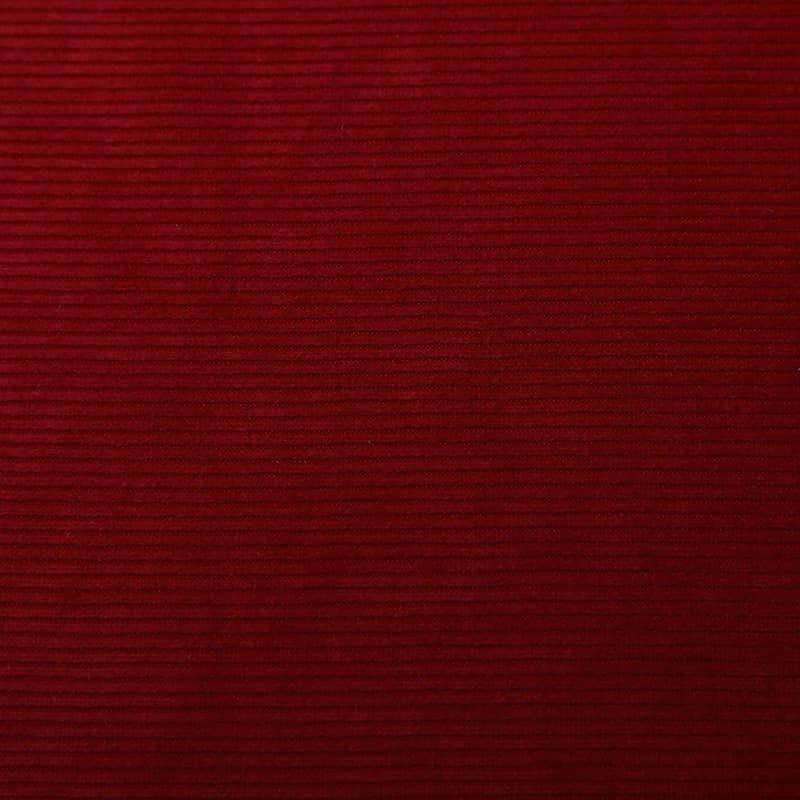 Well Priced polyester knit home textile red Holland corduroy jacquard fabric