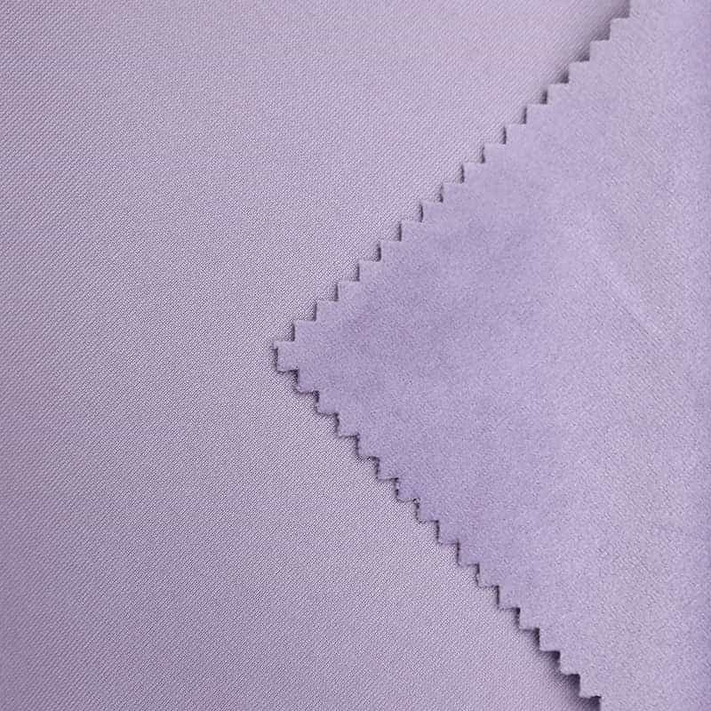 Popular polyester plain pattern light purple Holland velvet fabric for curtain and sofa