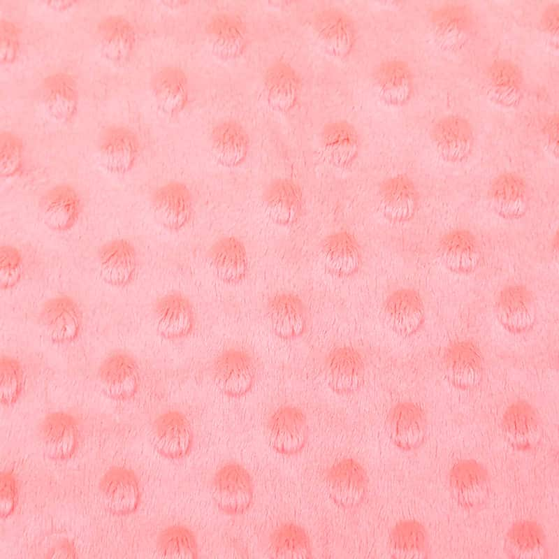 Polyester printed pink wholesale embossed minky super soft fabric for baby blanket