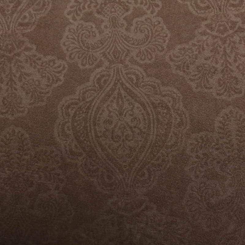 Best sale polyester interlock embossed velvet dining room chair cover seat fabric