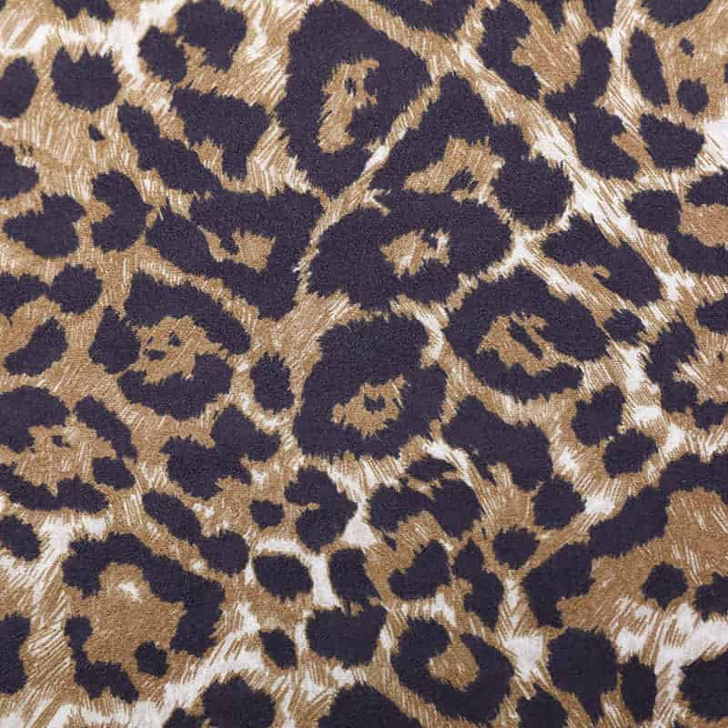 90%polyester 10%spandex leopard air layer suede fabric