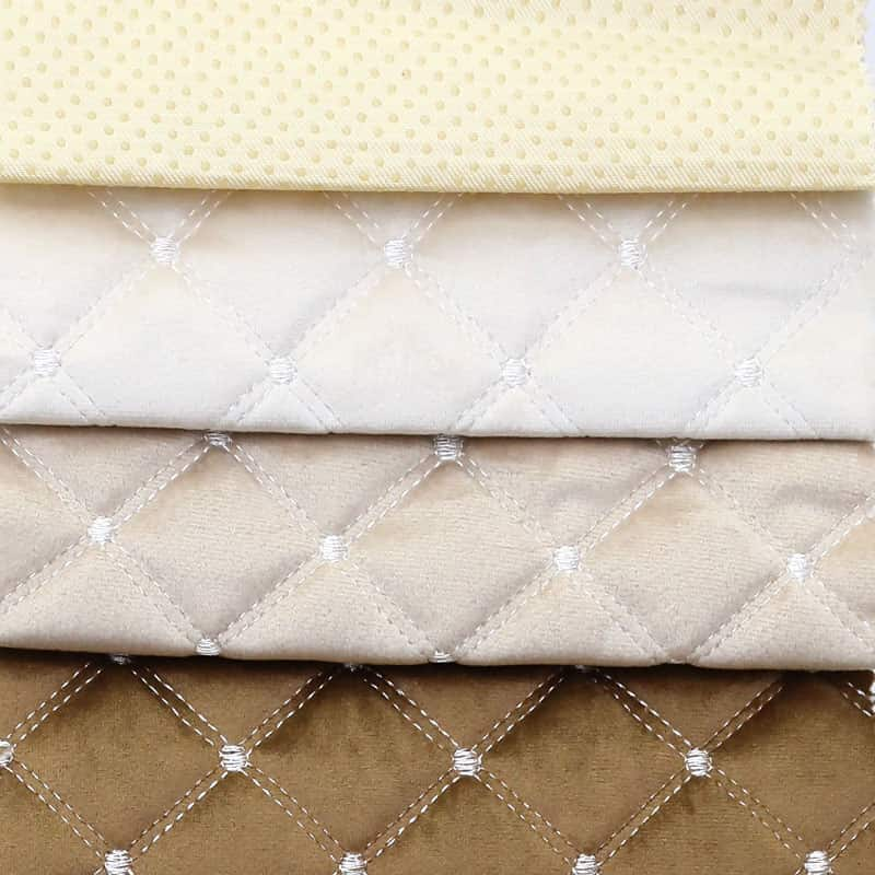 Hot sell custom anti-slip knit high density quilted velvet car seat cover fabric